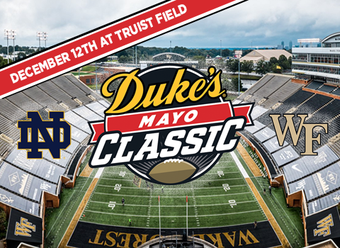 Duke's Mayo Classic Will Be Played at Truist Field December 12th