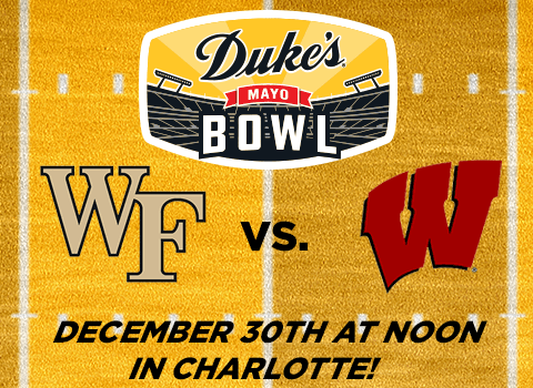 Wake Forest and Wisconsin Will Face Off in 2020 Duke's Mayo Bowl
