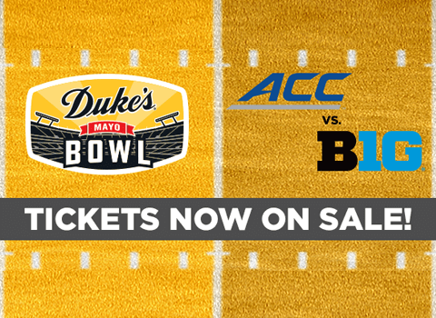Tickets Now On Sale for 2020 Duke's Mayo Bowl